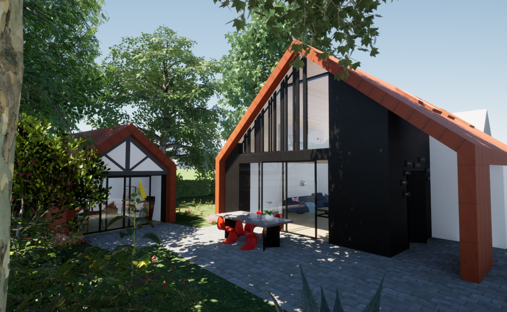 Modern double storey extension and annex in Epsom and Ewell, Surrey